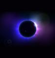 total solar eclipse vector image vector image