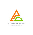 triangle abstract colored company logo vector image vector image