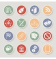 Universal Round Icons For Web and Mobile vector image vector image