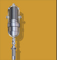 vintage silver microphone vector image