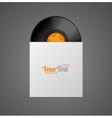 Vinyl Record in Paper Case vector image