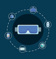 virtual reality design vector image vector image