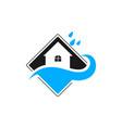 water drop waterproofing logo vector image vector image