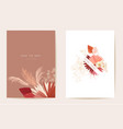 watercolor orchid pampas grass lunaria floral vector image vector image
