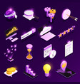 web traffic isometric icons set vector image