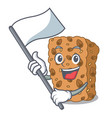 with flag granola bar mascot cartoon vector image