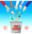 world no tobacco day - concept vector image