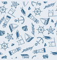 yachting seamless pattern vector image