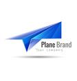 Paper plane logo design idea Origami toy symbol vector image
