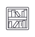 book shelf line icon sign on vector image
