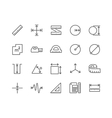 Line Measure Icons vector image