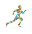 Abstract Creative concept image of running vector image vector image