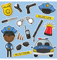 African-American Police Officer vector image vector image