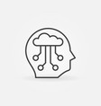 ai head concept icon in thin line style vector image vector image