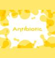 antibiotic symbol vector image vector image