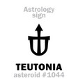 astrology asteroid teutonia vector image vector image