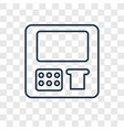 atm machine concept linear icon isolated on vector image