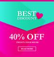 best discount 40 off vector image vector image