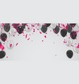 black and white transparent helium balloons on vector image