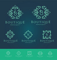 Boutique Floral Logo Set vector image