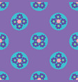 bright floral dots seamless pattern hand vector image vector image