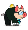 business money pig vector image vector image