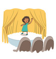 character kid talent show vector image vector image