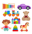 children toy set object vector image vector image