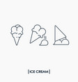 collection outline ice cream icons vector image vector image