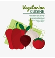 collection vegetables fresh natural vegetarian vector image vector image