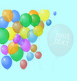 colorful festive balloons banner invitation vector image