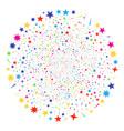 confetti stars exploding globula vector image vector image