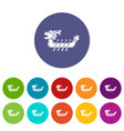 dragon boat icon simple style vector image vector image