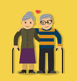 elderly couple in love vector image vector image