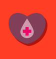 flat icon design collection heart with a cross in vector image vector image