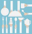 flat modern design concept cookware vector image vector image