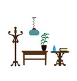 furniture pieces living room lamp hanger and vector image vector image
