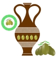Greek Amphora Olives Icon on White Background vector image vector image