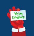greetings from santa claus vector image vector image