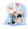 healing massage for rehabilitation after injury vector image vector image