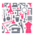 Icons set sewing and hobby tools vector image vector image