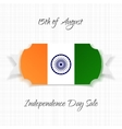 India Independence Day paper Label vector image vector image