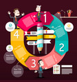 infographic design infographics circle diagram vector image vector image
