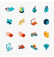 Isometric 3D internet security web icons vector image vector image