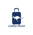 kangaroo and travel bag logo design vector image vector image