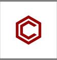 letter c hexagon logo vector image