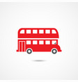london bus icon vector image