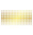 manager golden halftone pattern vector image