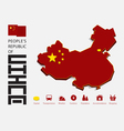 people republic china map vector image
