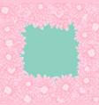 pink chrysanthemum border vector image